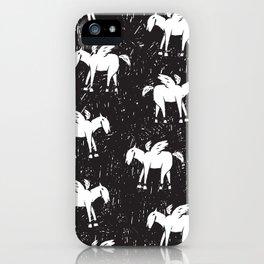 Pegasus Block Print iPhone Case