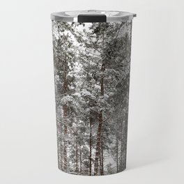 Pines in the forest Travel Mug