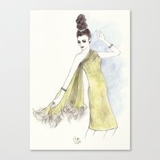 'Alice' Watercolor Fashion Illustration Canvas Print