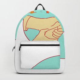 Congratulations Hand Popping Champagne Drawing Backpack