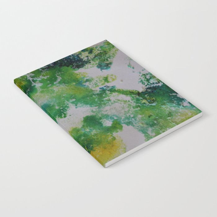 Its about space - in greens and yellows Notebook