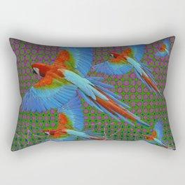 SHABBY CHIC BLUE MACAWS FLIGHT Rectangular Pillow