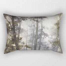 Wet Morning in the Forest Rectangular Pillow