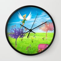 fairy Wall Clocks featuring Fairy by haroulita