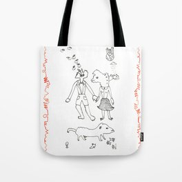 the ordinary life of the married couple Tote Bag