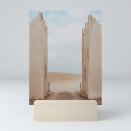 Last gate to desert - photo print  Mini Art Print