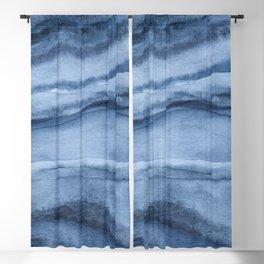 Indigo Blue Agate Pattern Blackout Curtain