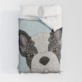 Black & White Frenchie 001 Comforters