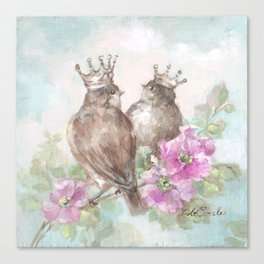 French Crown Songbirds II Canvas Print