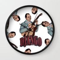 django Wall Clocks featuring Django Reinhardt by Daniel Cash