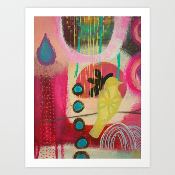 Out Beyond (detail) Art Print