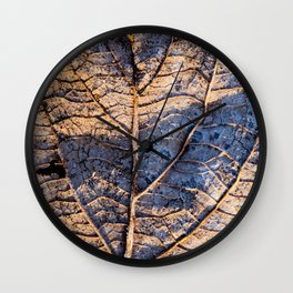 leaf detail Wall Clock