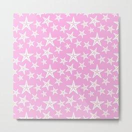 Pink Starfish Metal Print