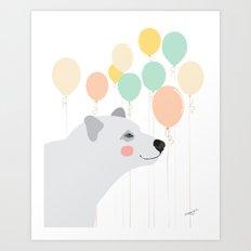 Balloon Bearer Art Print