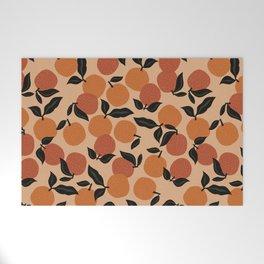 Seamless Citrus Pattern / Oranges Welcome Mat
