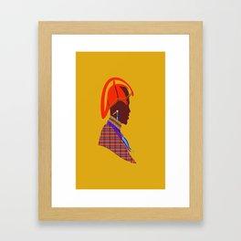 Kenya massai warrior africa graphic design digital art Framed Art Print