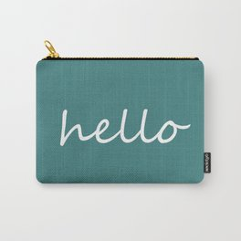 Hello Jade Green Carry-All Pouch