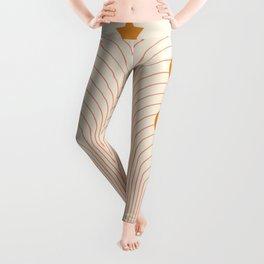 Abstraction_MOON_SUN_STARS_LINE_ART_Minimalism_001 Leggings