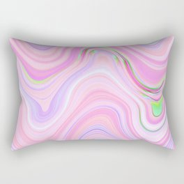 Pastel Pink & Violet Lava Marble Rectangular Pillow