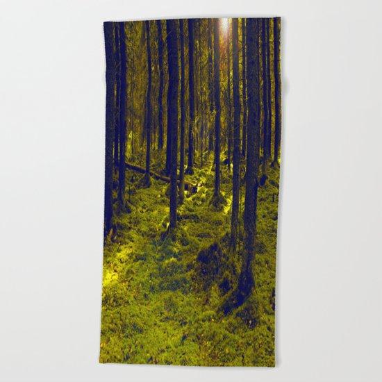 Green Forest Beach Towel