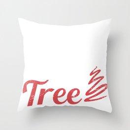 Smokin' Hot Cameroonian Under Christmas Tree Throw Pillow