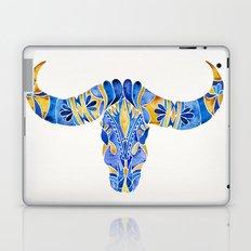 Water Buffalo Skull – Navy & Yellow Laptop & iPad Skin