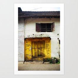 Fort Cochin Door, Fort Cochin, Kerala, India Art Print