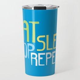 Eat Sleep Shop Repeat Travel Mug