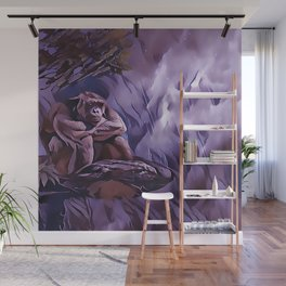 Gorillas Rainy Day Blues Wall Mural