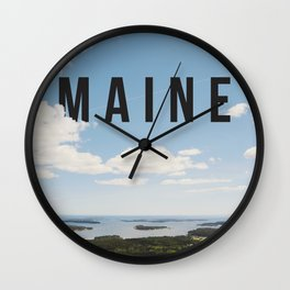 Maine. Wall Clock