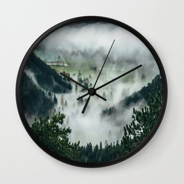 The Rolling Gray Wall Clock