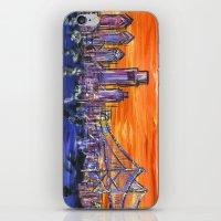 Ben Franklin Bridge Sunset iPhone & iPod Skin