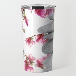 Magnolia flowers and zen stones 10 Travel Mug