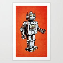 Retro Robot Toy Art Print