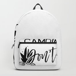 Camping Hair Don't Care Backpack