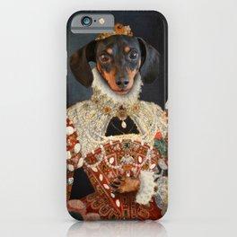 Queen Dixie - Dachshund Art iPhone Case