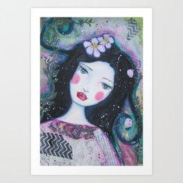 Apple Blossom Snow White Art Print