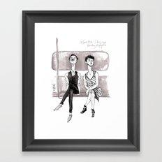 F-Train Snobs by Kat Mills Framed Art Print