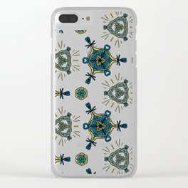 blue shore Clear iPhone Case