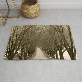 Tree Lined Road Rug
