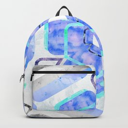 Blue Viola Hybrid Flower Abstract Art Watercolor Backpack