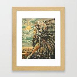 native american portrait Framed Art Print