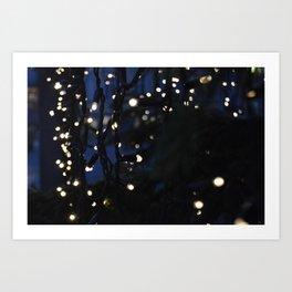 Tree Lights Art Print