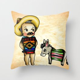 Mexican Kewpie Throw Pillow