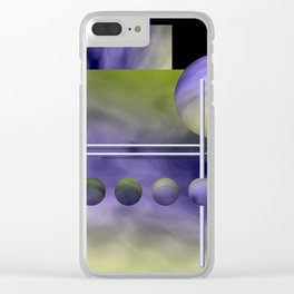 liking geometry -3- Clear iPhone Case