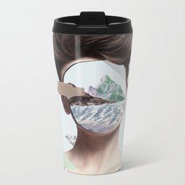Woman Collage Metal Travel Mug