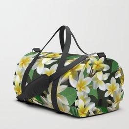 Plumeria Flowers Duffle Bag