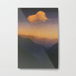 Dreamlands - Sunrise in the Swiss Alps Metal Print