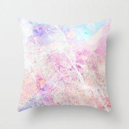 Blush Aqua Marble Throw Pillow