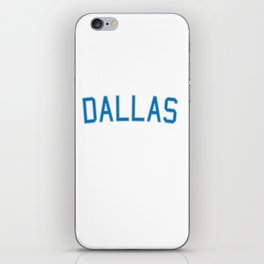 Dallas Sports College Font iPhone Skin